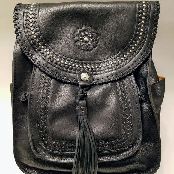 ed7f9c21ae2e Patricia Nash Jovanna Black Leather Backpack